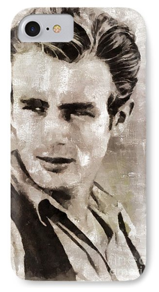 James Dean Hollywood Legend IPhone 7 Case by Mary Bassett