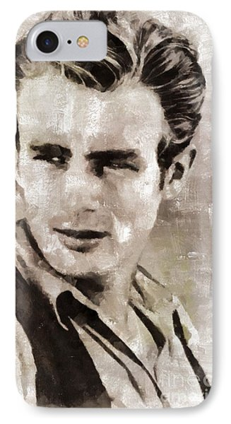 James Dean Hollywood Legend IPhone Case by Mary Bassett
