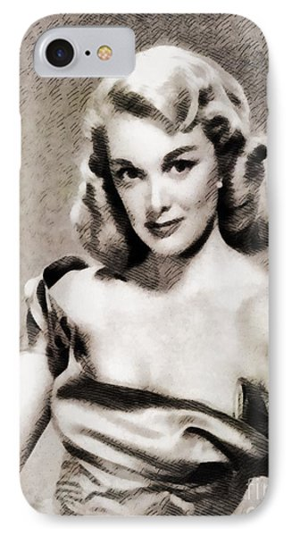 Jan Sterling, Vintage Actress IPhone Case by John Springfield