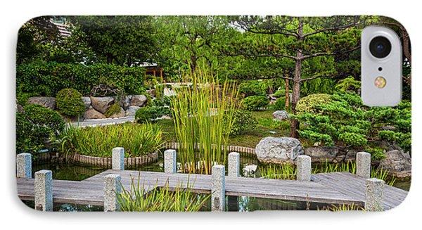 Japanese Garden In Monte Carlo IPhone Case by Elena Elisseeva