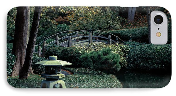 IPhone Case featuring the photograph Japanese Garden In Summer by Iris Greenwell