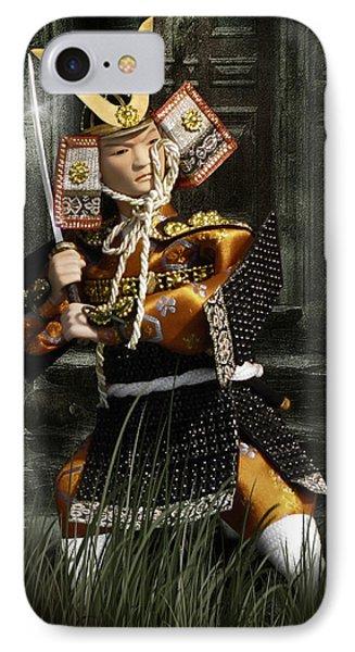 Japanese Samurai Doll Phone Case by Christine Till