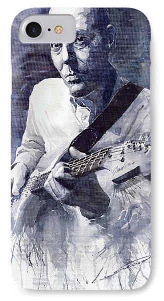 Jazz Guitarist Rene Trossman  Phone Case by Yuriy  Shevchuk