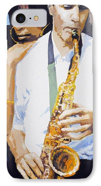 Jazz Muza Saxophon Phone Case by Yuriy  Shevchuk