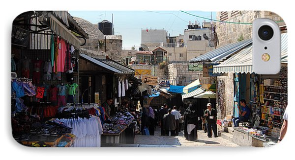 The Old City Of Jerusalem 1 IPhone Case by Isam Awad