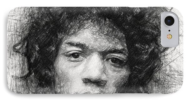 Jimi Hendrix IPhone Case by Taylan Apukovska