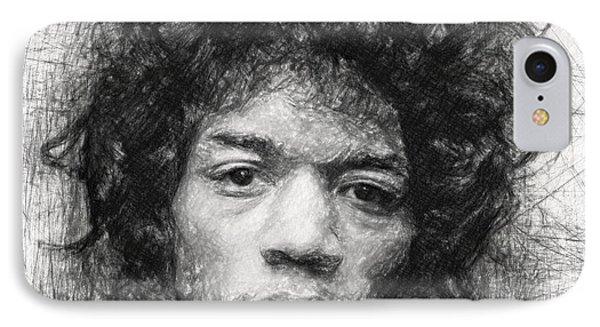 Jimi Hendrix IPhone Case by Taylan Apukovska