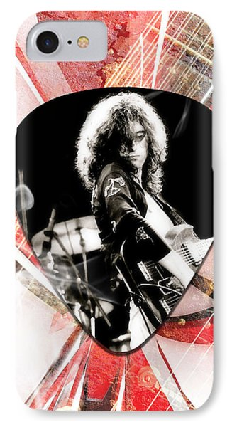 Jimmy Page Led Zeppelin Art IPhone Case
