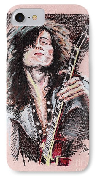Jimmy Page iPhone 7 Case - Jimmy Page by Melanie D