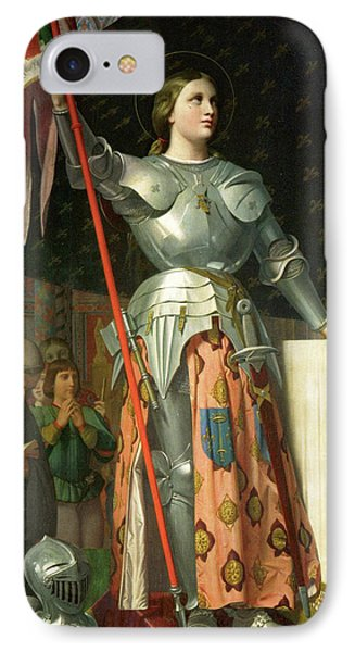 Joan Of Arc At The Coronation Of Charles Vii IPhone Case by Jean-Auguste-Dominique Ingres