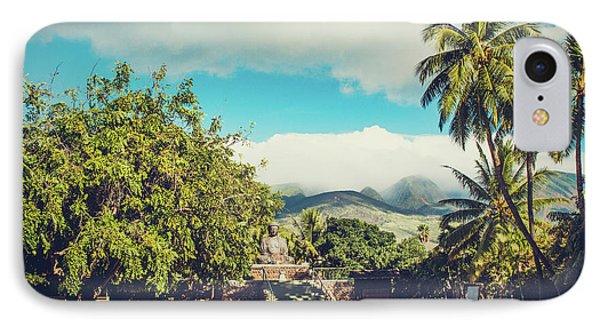 IPhone Case featuring the photograph Jodo Shu Mission Lahaina Maui Hawaii by Sharon Mau