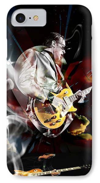 Joe Bonamassa Blue Guitarist Art Phone Case by Marvin Blaine