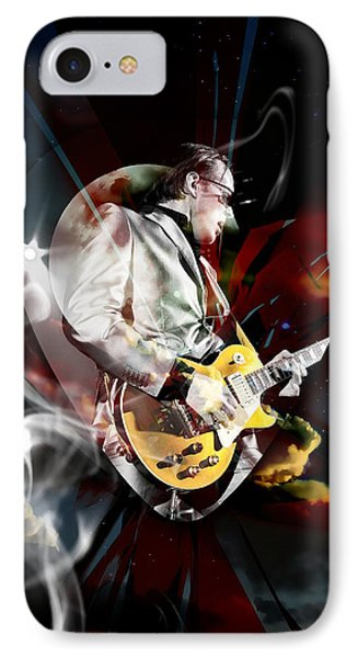Joe Bonamassa Blues Guitarist Art Phone Case by Marvin Blaine