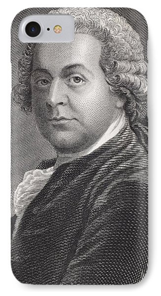 John Adams 1735 - 1826. First Vice IPhone Case by Vintage Design Pics