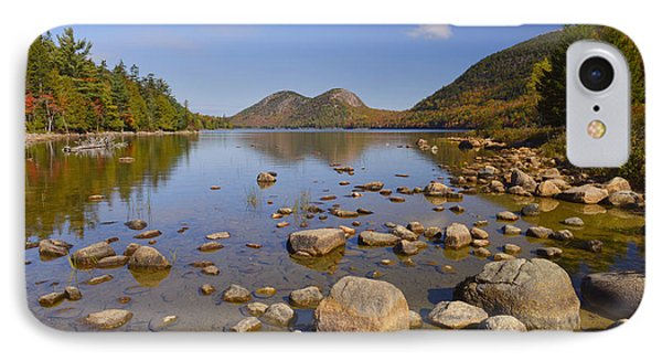 IPhone Case featuring the photograph Jordan Pond In Autumn by Stephen  Vecchiotti