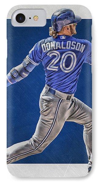 Josh Donaldson Toronto Blue Jays Art IPhone Case by Joe Hamilton