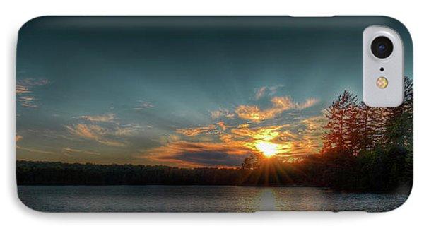 June Sunset On Nicks Lake IPhone 7 Case by David Patterson