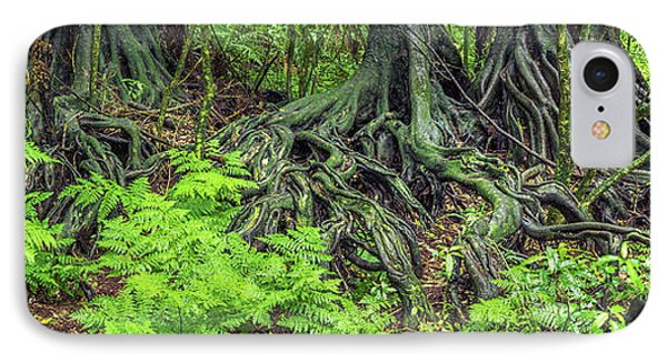 IPhone Case featuring the photograph Jungle Roots by Les Cunliffe