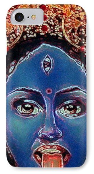 Kali - Hindu Goddess IPhone Case by Carmen Cordova