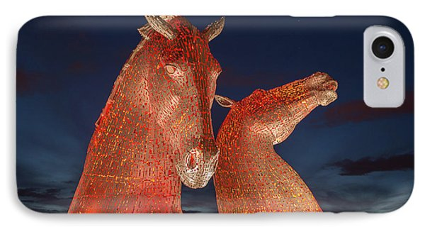 Kelpies IPhone Case by Terry Cosgrave