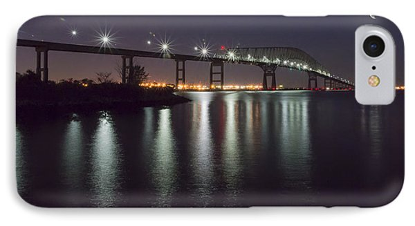 Key Bridge At Night IPhone Case by Brian Wallace