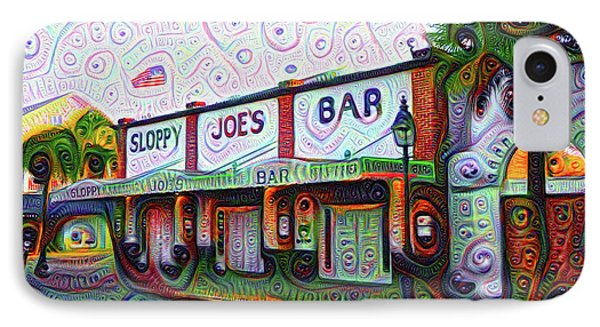 Key West Florida Sloppy Joes Bar IPhone Case by Bill Cannon