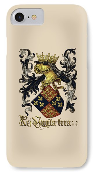 King Of England Coat Of Arms - Livro Do Armeiro-mor Phone Case by Serge Averbukh