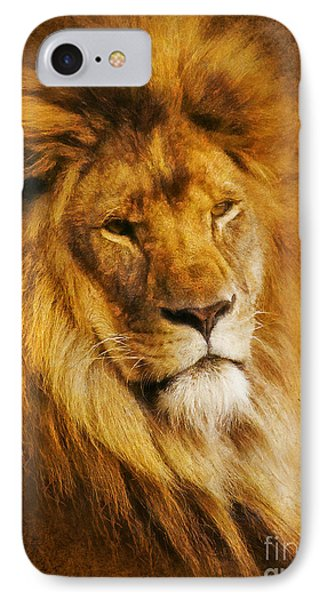IPhone Case featuring the digital art King Of The Beasts by Ian Mitchell