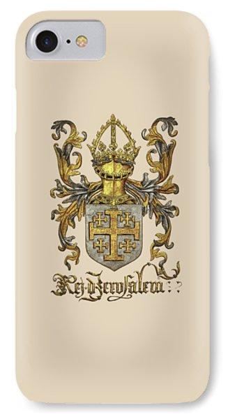 Kingdom Of Jerusalem Coat Of Arms - Livro Do Armeiro-mor Phone Case by Serge Averbukh