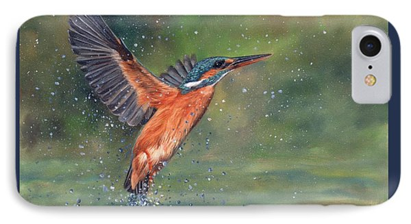 IPhone Case featuring the painting Kingfisher by David Stribbling