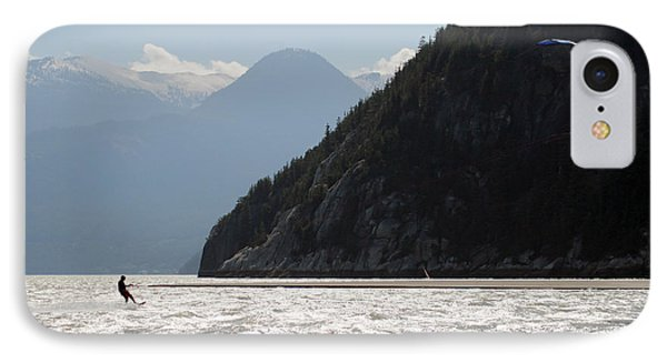 Kite Surfing The Spit In Squamish B.c Canada Phone Case by Pierre Leclerc Photography