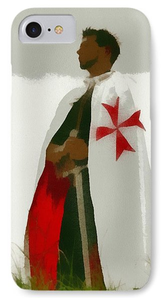 Knights Templar IPhone Case by Pierre Blanchard