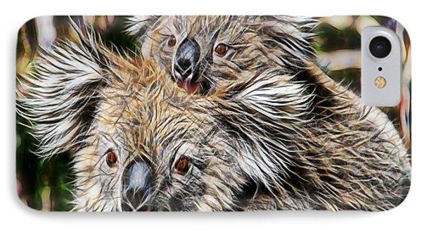 Koala Bear Mom And Child IPhone Case