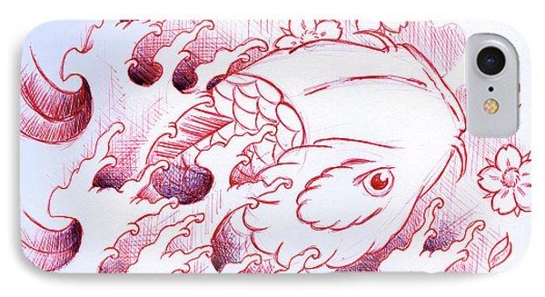 Koi Carp Tattoo Art IPhone Case by Samuel Whitton