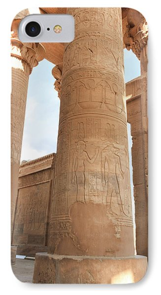 IPhone Case featuring the photograph Kom Ombo Temple by Silvia Bruno