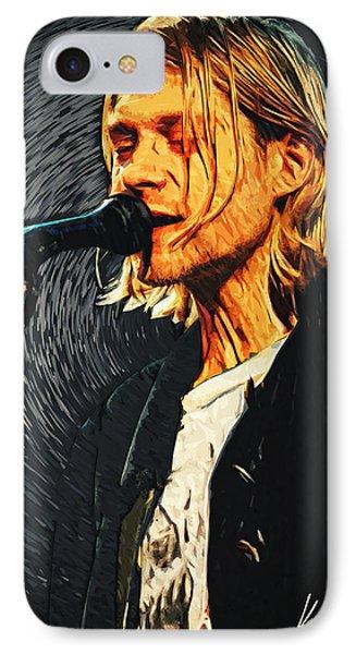 Kurt Cobain IPhone 7 Case by Taylan Apukovska