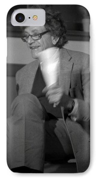 Kurt Vonnegut IPhone Case by Diane Dufault