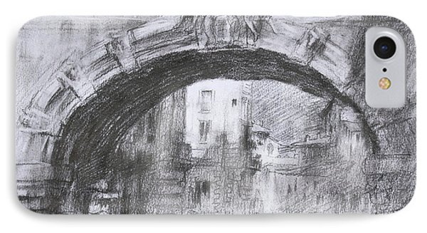 L-arco Di Via Tagliamento Rome IPhone Case by Ylli Haruni