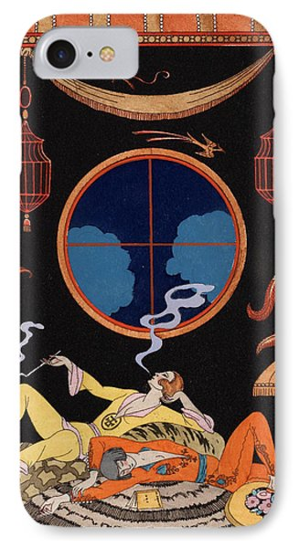 La Paresse IPhone Case by Georges Barbier