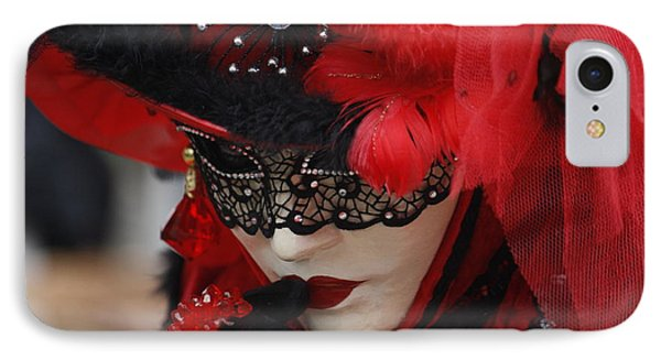 Lady In Red IPhone Case by Wilko Van de Kamp