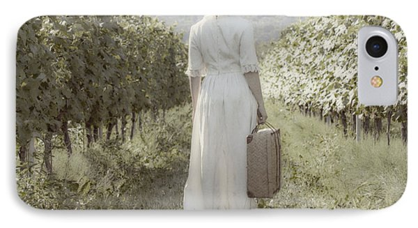 Lady In Vineyard IPhone Case by Joana Kruse