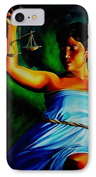 Lady Justice Phone Case by Laura Pierre-Louis