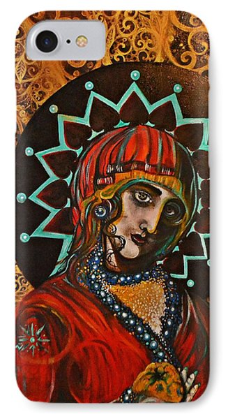 IPhone Case featuring the painting Lady Of Spades by Sandro Ramani