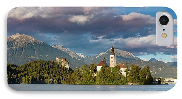 IPhone Case featuring the photograph Lake Bled Evening by Brian Jannsen