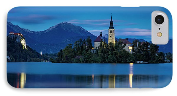 IPhone Case featuring the photograph Lake Bled Twilight by Brian Jannsen