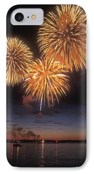 Lake Champlain Fireworks Phone Case by John Burk
