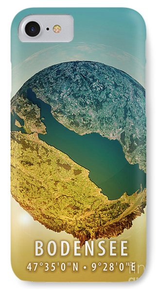 Lake Constance 3d Little Planet 360-degree Sphere Panorama IPhone Case by Frank Ramspott