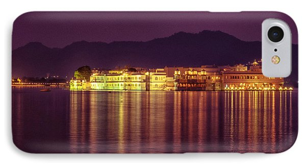 IPhone Case featuring the photograph Lake Palace Night Scenery by Yew Kwang