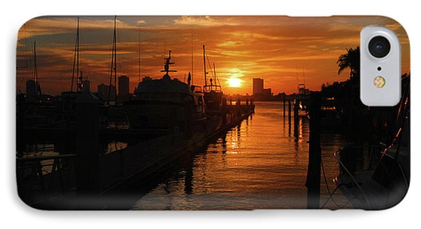 IPhone Case featuring the photograph 1- Lake Park Marina by Joseph Keane