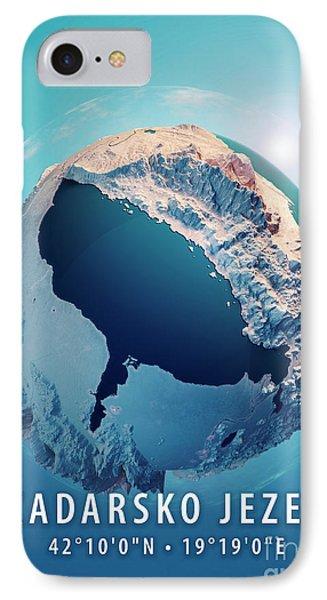 Lake Skadar 3d Little Planet 360-degree Sphere Panorama Blue IPhone Case by Frank Ramspott